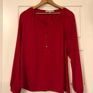 Flowy Red Blouse